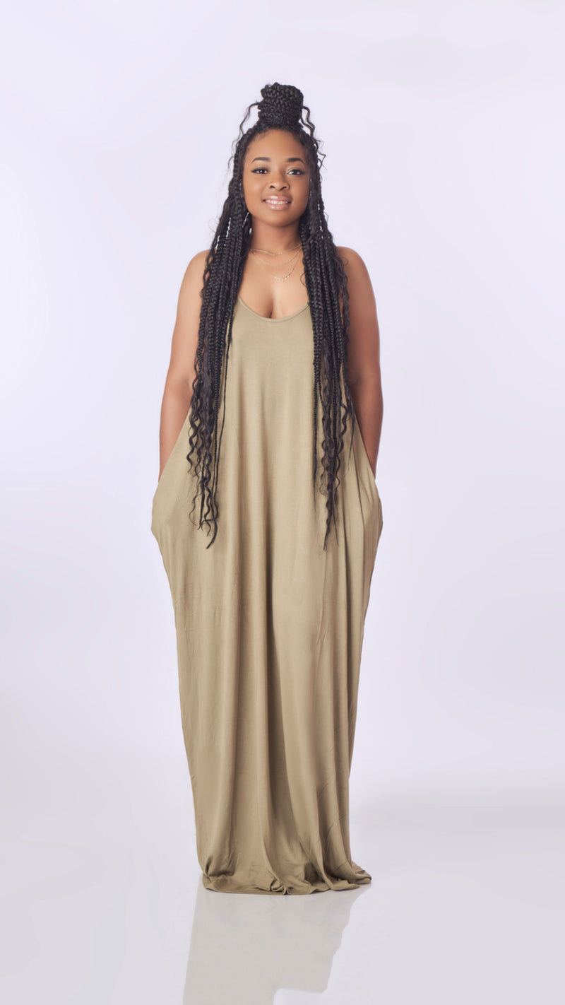 Just Lounging Maxi (Olive)