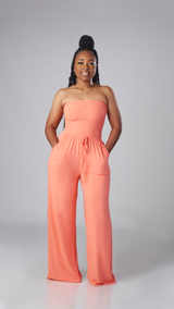 Feel Good Jumpsuit (Coral)