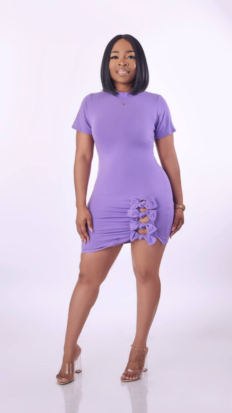 Sassy Bow Dress (Lilac)