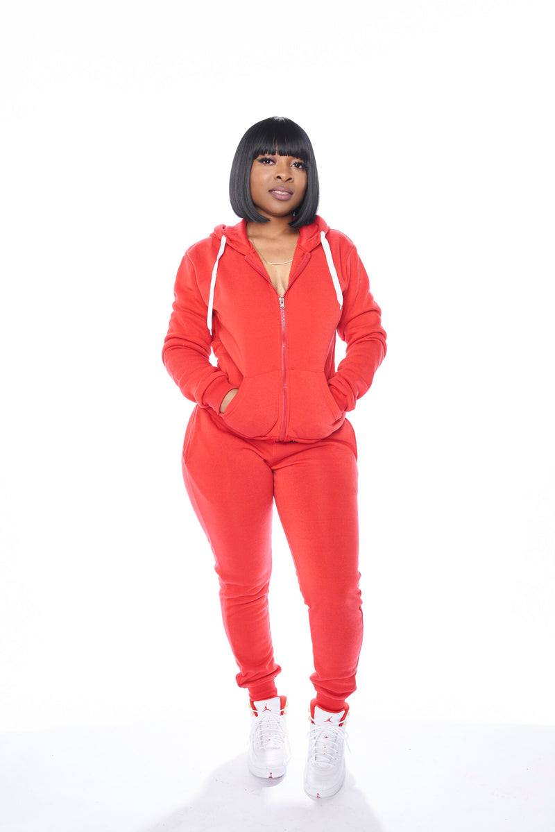 Fleece Set (Red)