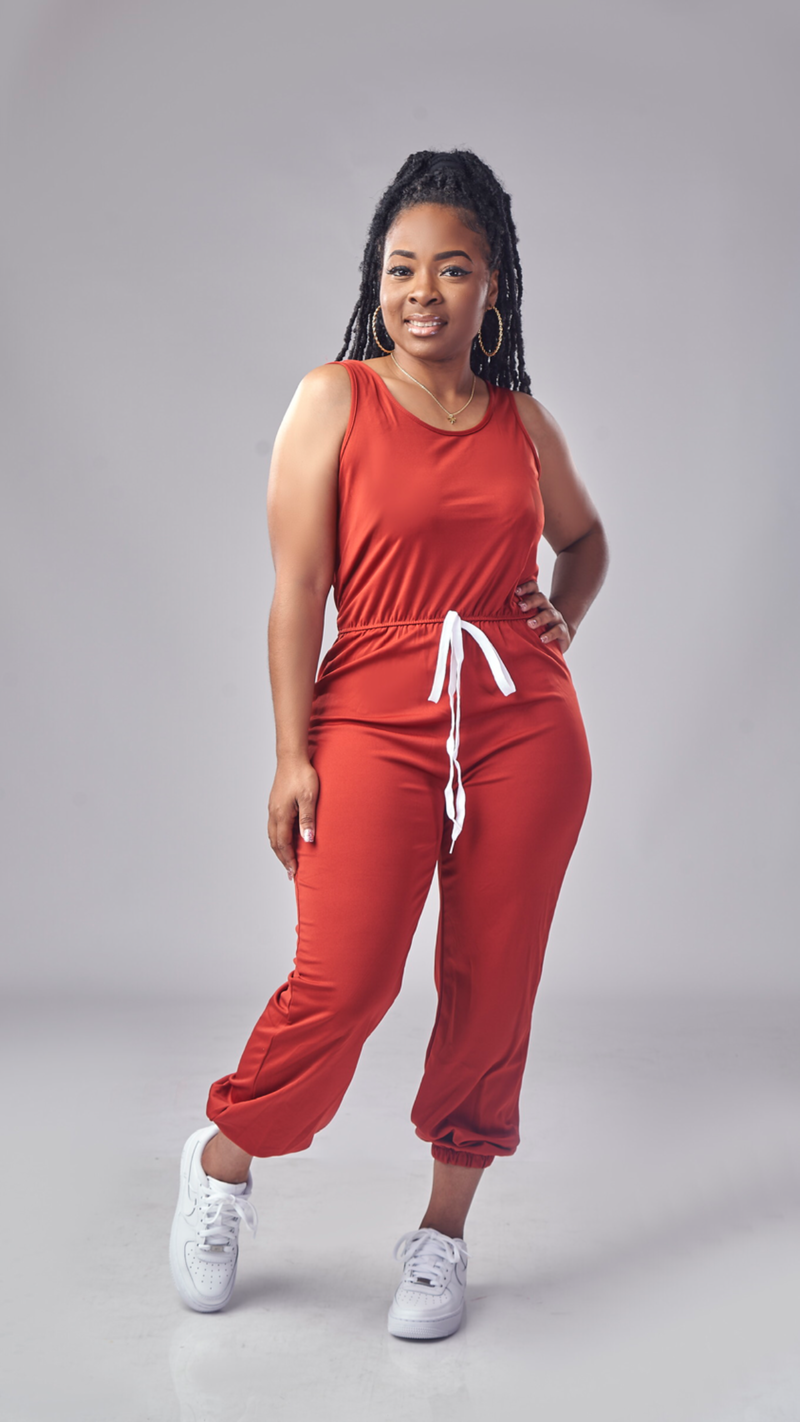 Everyday Chill Jumpsuit (Burgundy)