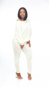 Cozy Sweater Set (Cream)