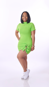Sassy Bow Dress (Lime)