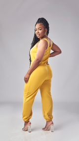 Everyday Chill Jumpsuit (Mustard)