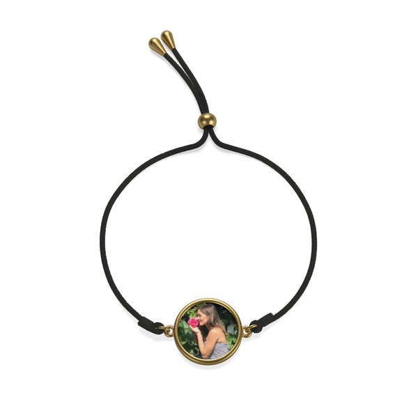 """Custom Photo Coin Cord Bracelet"" (Gold & Silver) - AH Boutique"