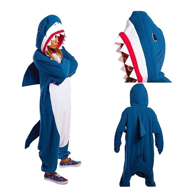 Shark Onesie Sleepwear - AH Boutique