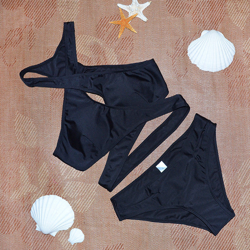 """Black Criss Cross Bikini"" - AH Boutique"