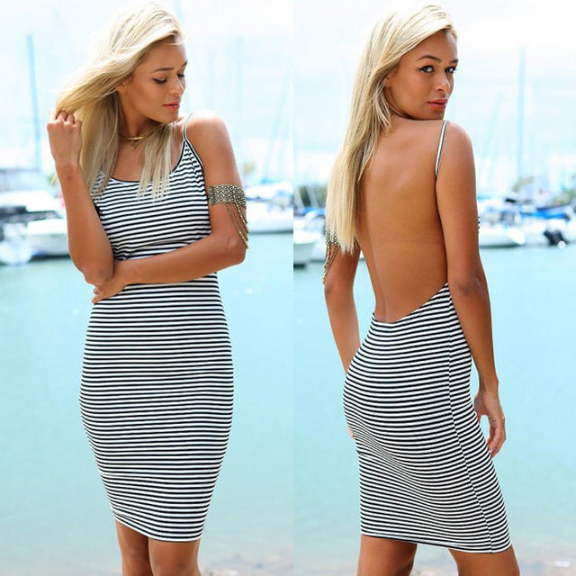 """Striped Natical Dress"" - AH Boutique"