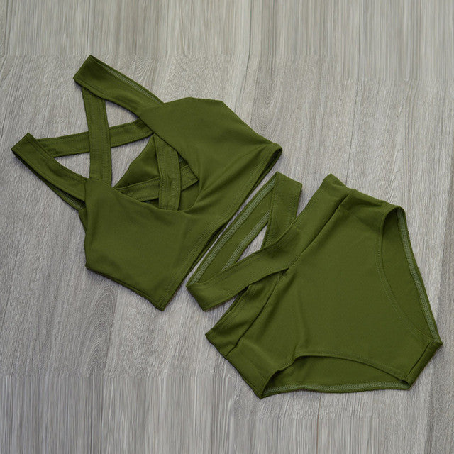 "'The Criss Cross"" Bandage Bikini - AH Boutique"