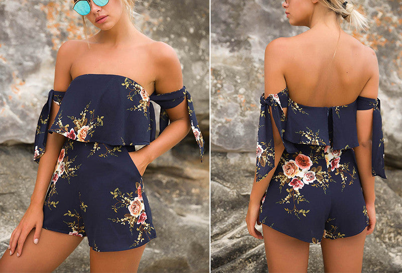 """The Floral Print Bow Romper"" - AH Boutique"
