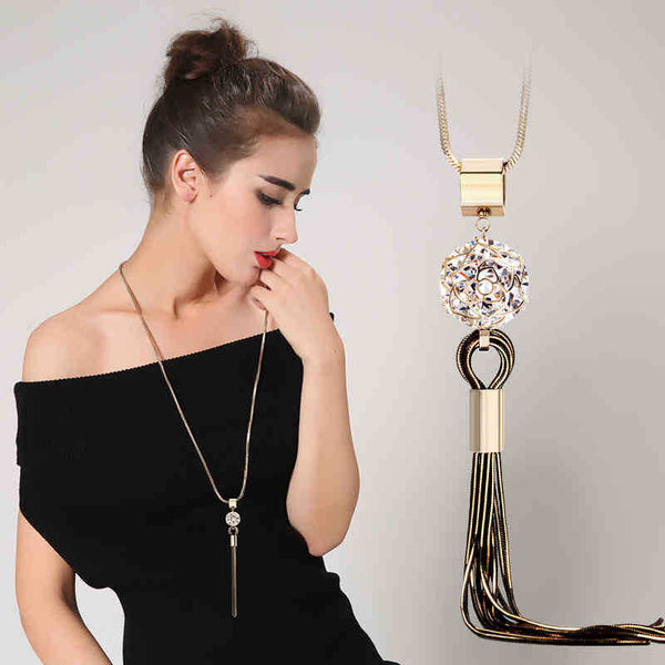 """Long Pendant Necklace"" - AH Boutique"