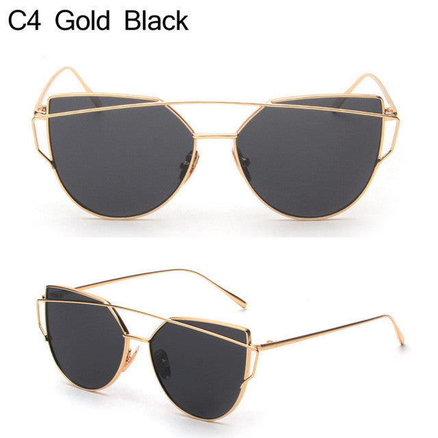 Flat Cateye Sunglasses - AH Boutique