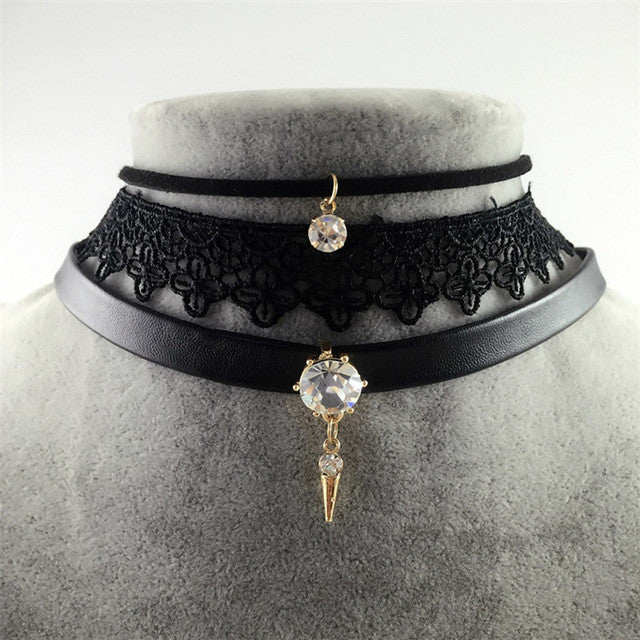 """3 Tier Choker"" (3 Color Choices) - AH Boutique"