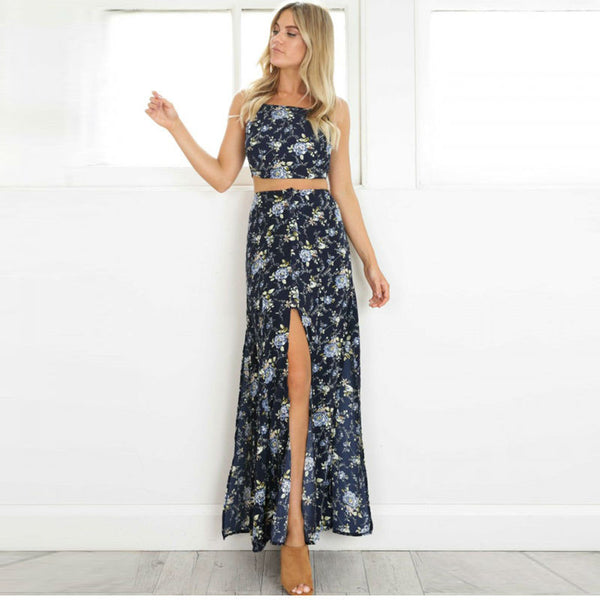 """The 2 Piece Floral Maxi Dress"" - AH Boutique"