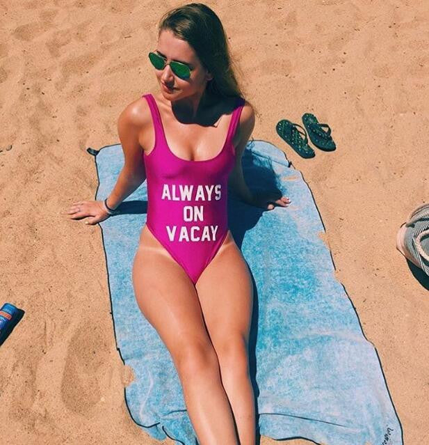 """Always On Vacay Swimsuit"" - AH Boutique"