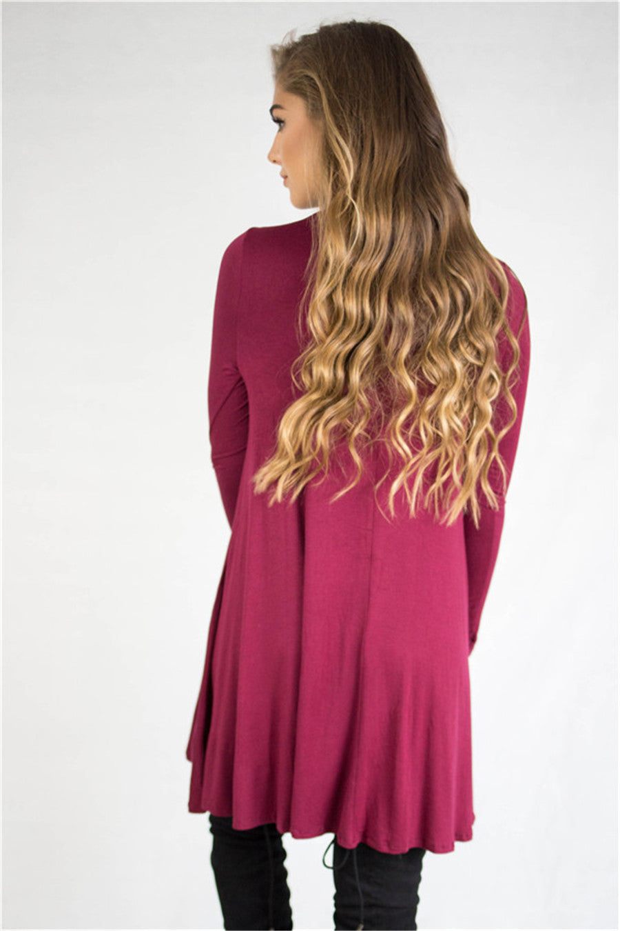 """Loose Long Sleeve Turtleneck Dress"" - AH Boutique"