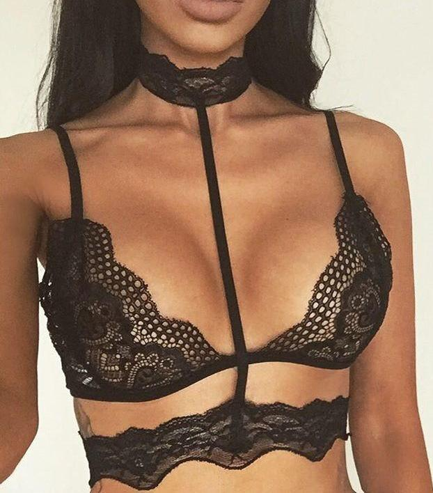 """Sheer Lace Bralette"" - AH Boutique"
