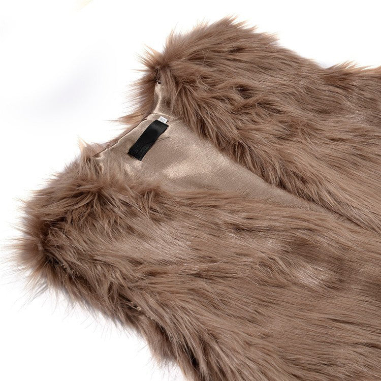 "Khaki Fur Vest"" (With Pockets) - AH Boutique"