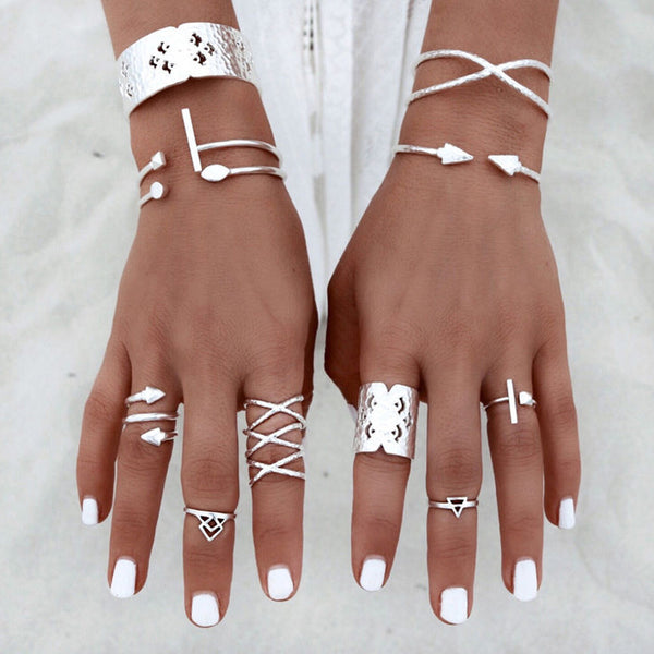 6pcs/Set Women Bohemian Rings - AH Boutique
