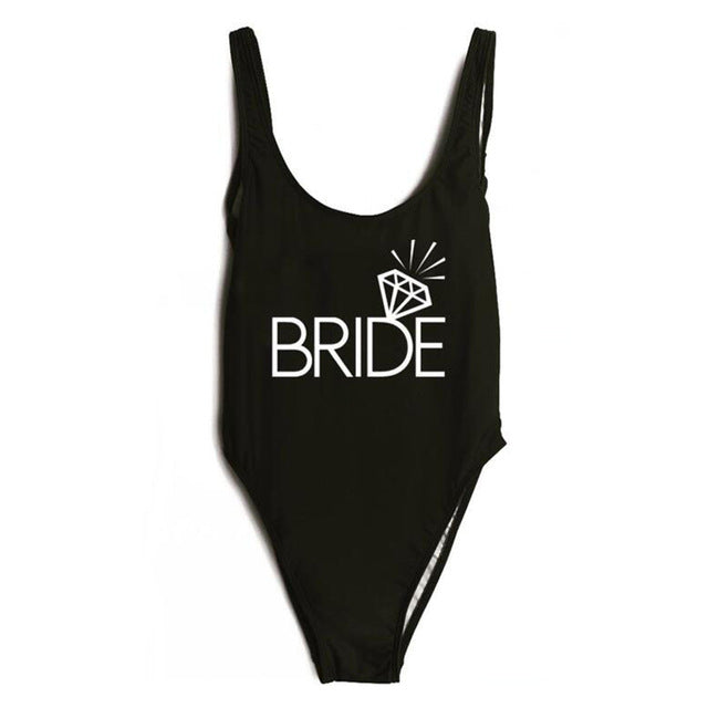 """BRIDE One Piece Swimsuit"" 10 Different Options - AH Boutique"