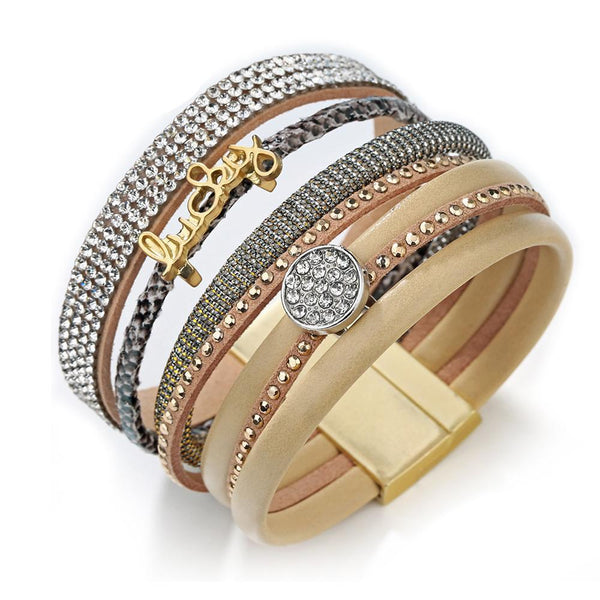 """Wrap Leather Magnetic Bracelet"" - AH Boutique"