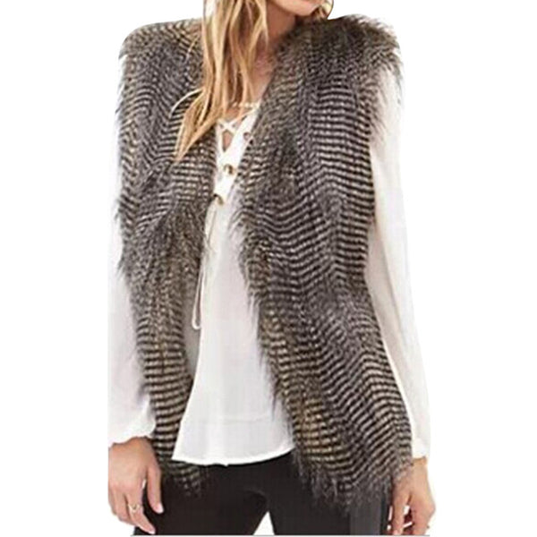 """Winter Warm Luxury Fur Vest"" - AH Boutique"