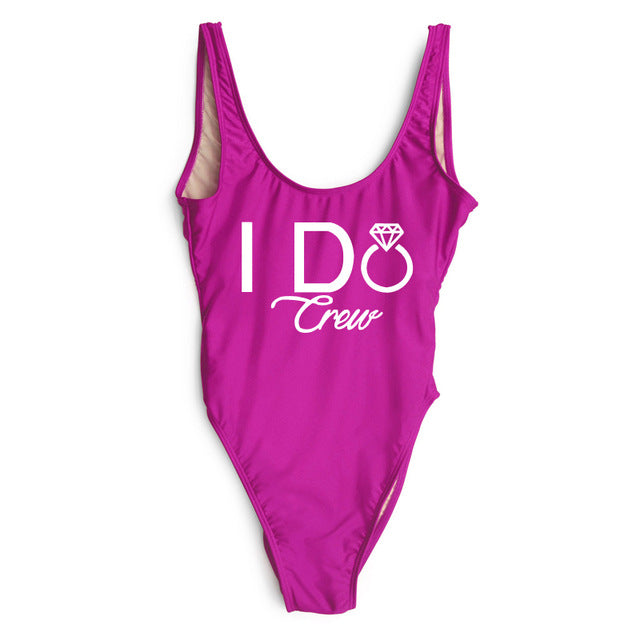 """I DO Bride One Piece Swimsuit"" - AH Boutique"