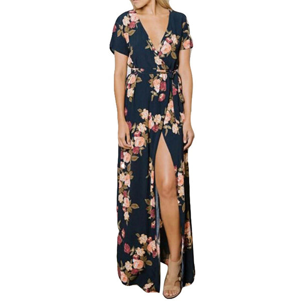 """Long Maxi Floral Dress"" - AH Boutique"