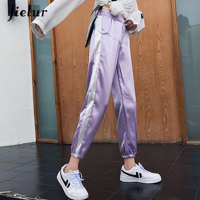 Loose Streetwear Side Stripe Pants - AH Boutique