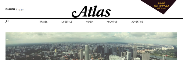 Atlas Magazine Etihad Airways front page