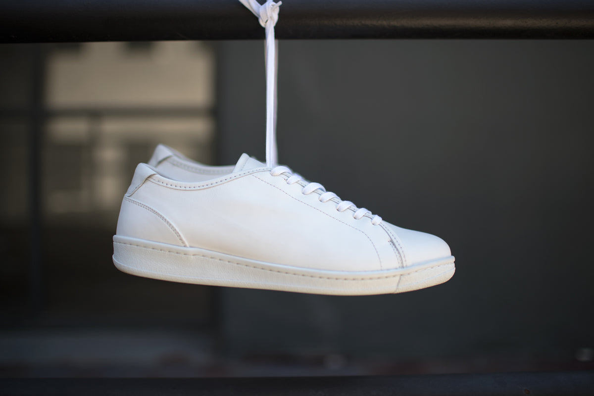 A.Posse Rivington (white) KITH shot all white classic leather sneaker