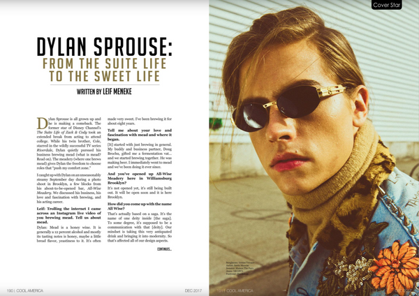 Dylan Sprouse A.Posse feature in Cool in America Magazine