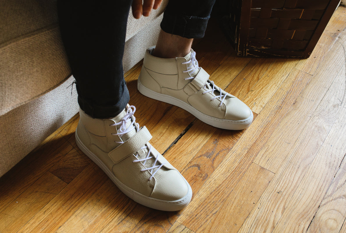 A.Posse Lennox (ice) off-white italian leather luxury fashion sneaker