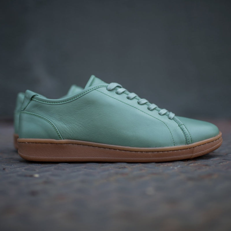 A.Posse Rivington cielo luxury sneaker low top green side view hypebeast shot