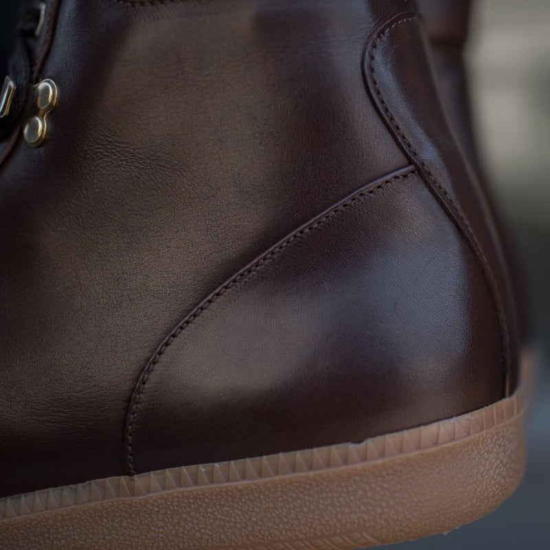 A.Posse Fulton (brown) luxury italian leather accessible luxury sneaker boot details