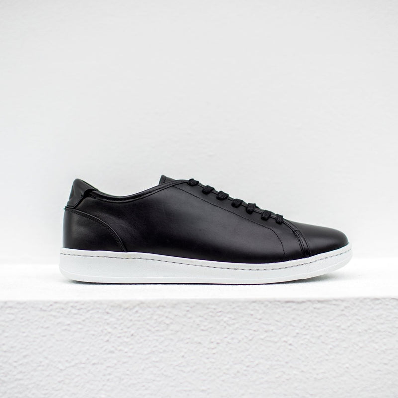 A.Posse Rivington (black) clean luxury leather sneakers side view