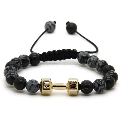 Gold / Black Dumbbell Bracelet V2