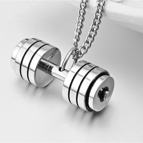 necklace sterling insignia deal shop womens silver dumbbell grey collection women huge pendant s size on