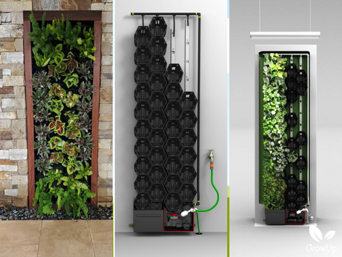 GrowUp Greenwall Kit - 2' Wide x 7' Tall - Recirculating