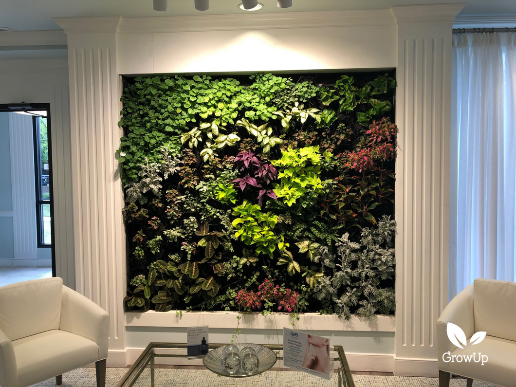 GrowUp Greenwall Kit - 6' Wide x 7' Tall - Recirculating Indoor