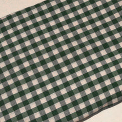 Chequered Parna - Green & White