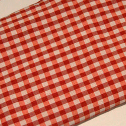 Chequered Parna - Red & White