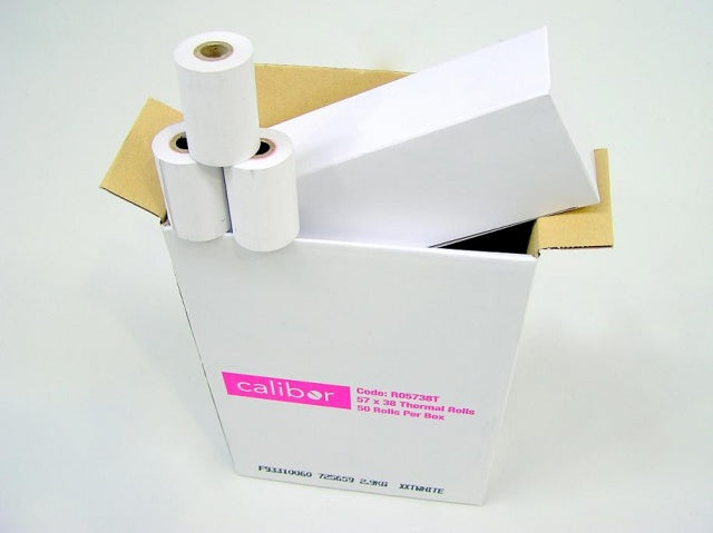 Calibor Thermal Paper 57mm x 38mm (50 Rolls)