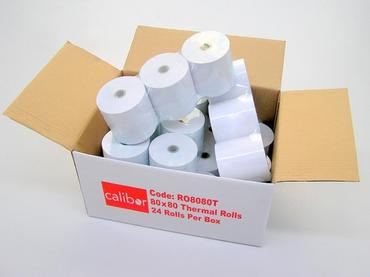 Calibor Thermal Paper 80mm x 80mm (24 Rolls)