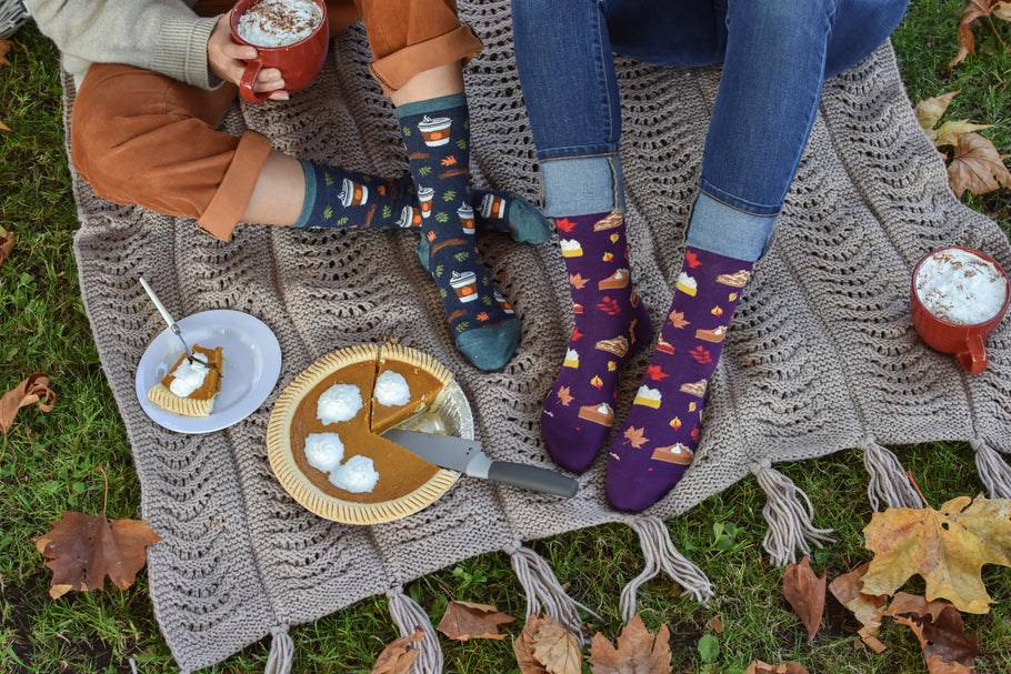 Warm, Cozy, and Caloric: Four of Our Favorite Holiday Socks - and Tasty Treats to Accompany Them!