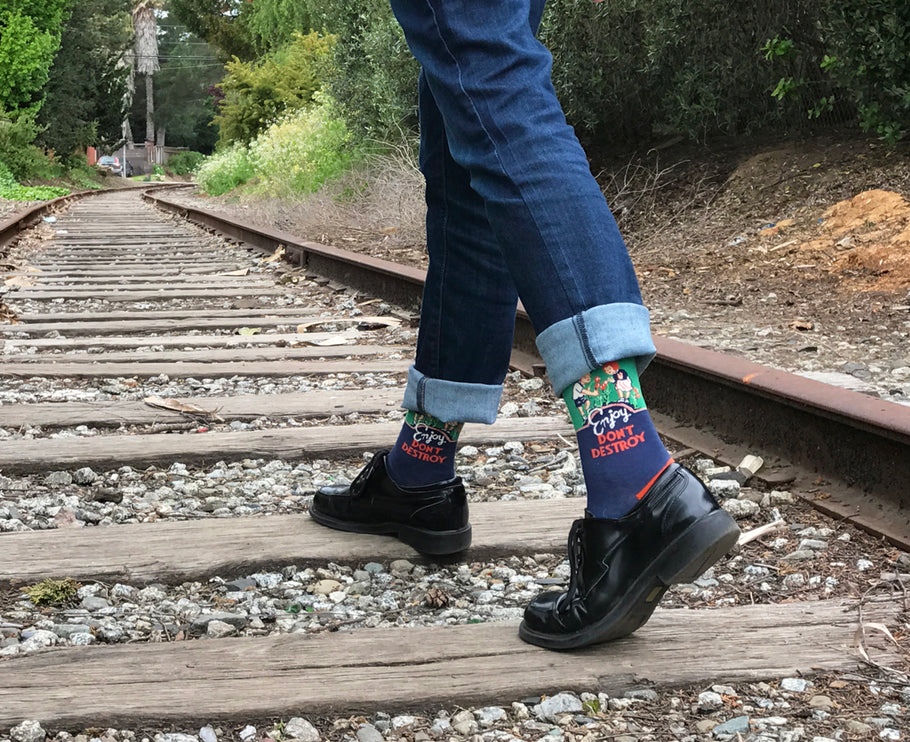 Celebrate National Walk To Work Day With Stop Sign Socks!