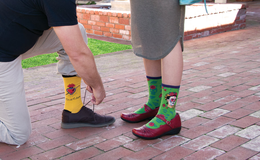 Celebrate Frida's Birthday with a Variety of Frida Kahlo Socks