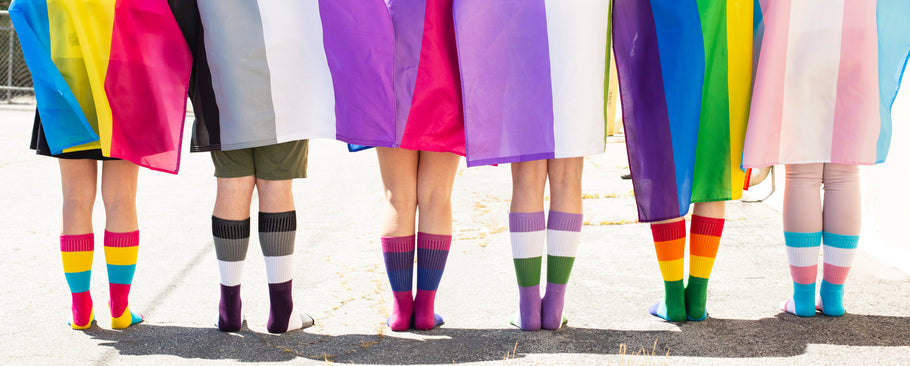 We've partnered with The Trevor Project to create our Pride Socks!