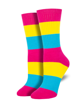 Unisex Pan Pride Socks - Multi