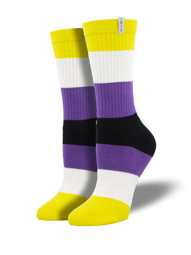 Non-Binary Pride Athletic Socks